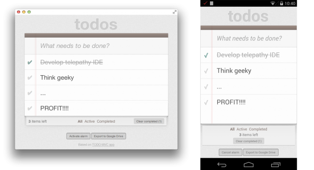 Chrome Apps to Android todos