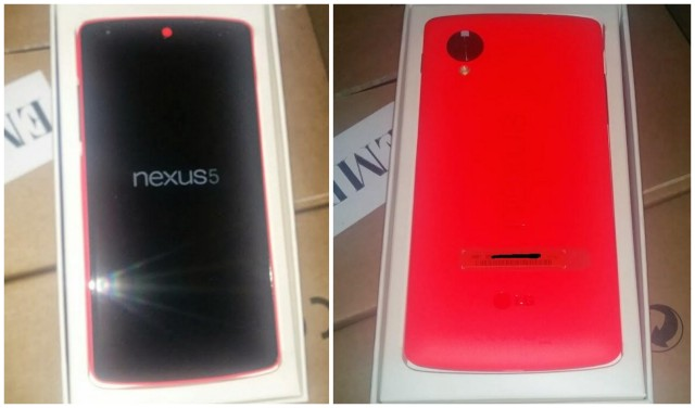 Red Nexus 5 front back