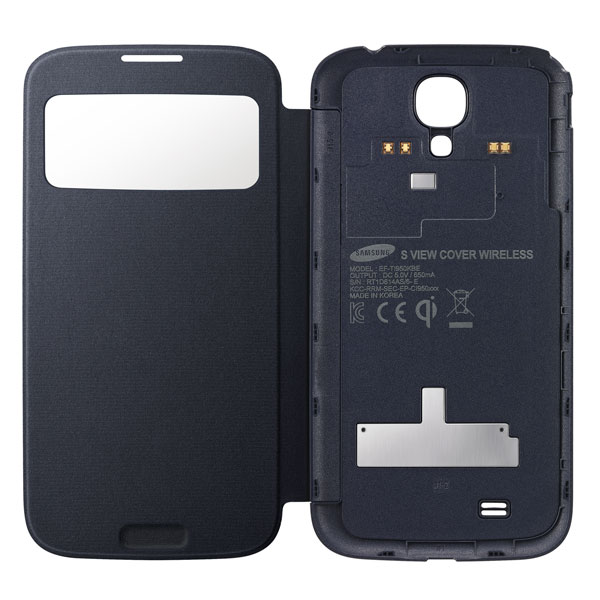 Samsung Galaxy S4 wireless charging S-View Flip Cover open