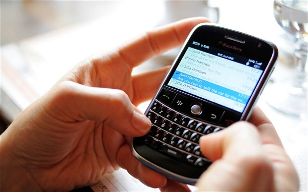 blackberry texting