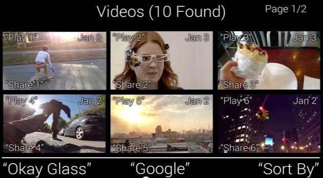 google glass ui concept