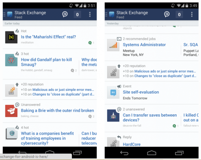stack exchange app