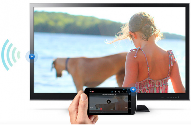 Chromecast in action screenshot