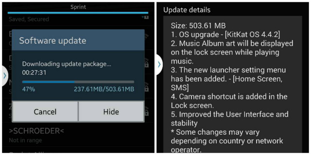 note 3 kitkat update sprint sbs