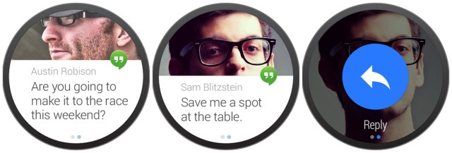 Android Wear UI actions