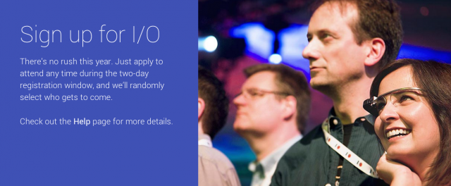 Google IO 2014 selection process