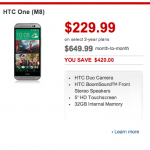 HTC One 2014 Rogers pricing