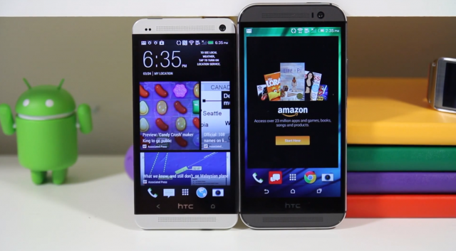 HTC One 2014 vs 2013 comparison video