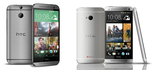 HTC One M8 2014 vs M7 2013