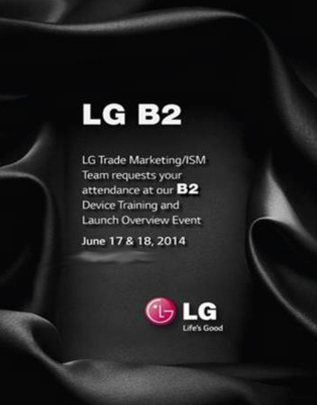 LG B2 G3 event training invite