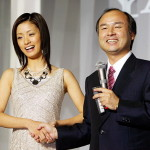 Softbank CEO with actress