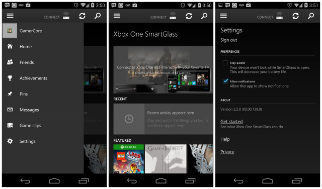 XboxOne SmartGlass Android