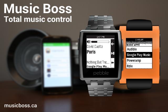 music boss for pebble