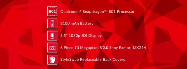 oneplus one cover photo specs