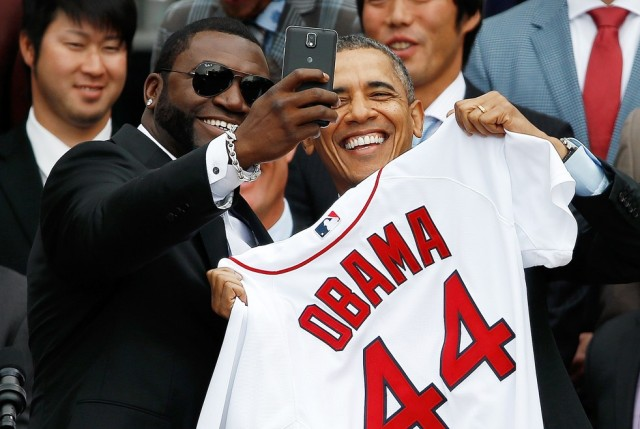 David Ortiz Obama selfie Samsung Note 3