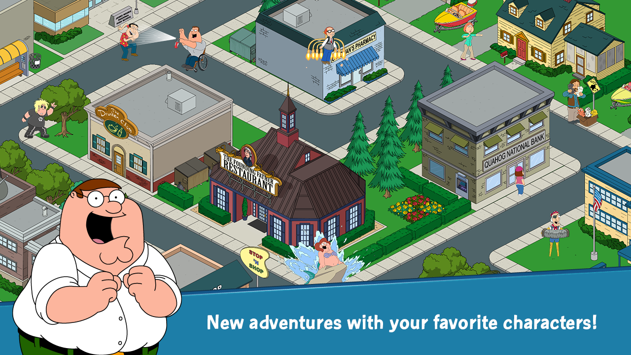 official family guy game now available for android devices. Black Bedroom Furniture Sets. Home Design Ideas