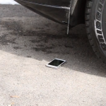 Galaxy S5 drop test car