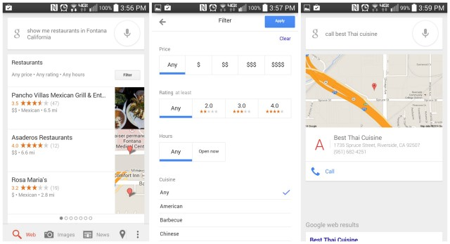 Google Search update restaurants