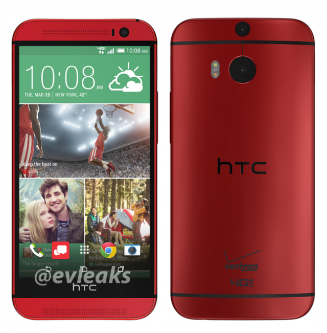 HTC One M8 Red Verizon Wireless