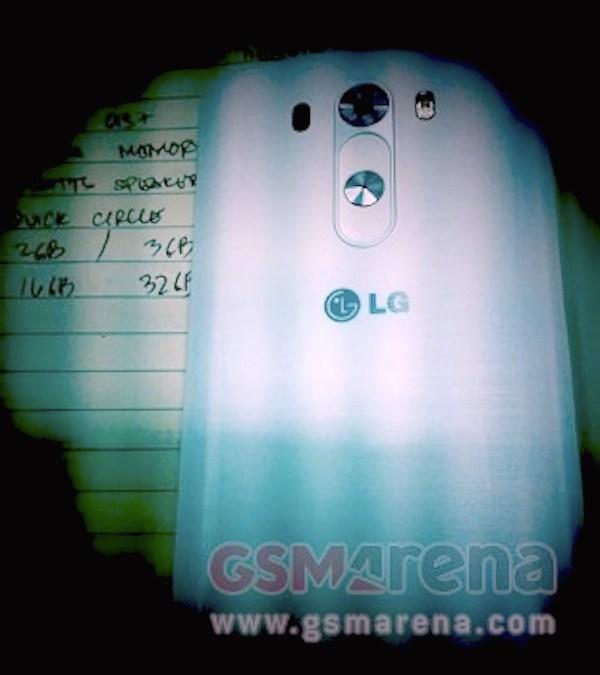 LG G3 leak GSMArena