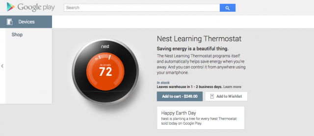 Nest Google Play listing
