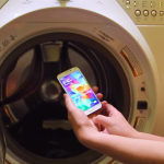 Samsung Galaxy S5 washer test