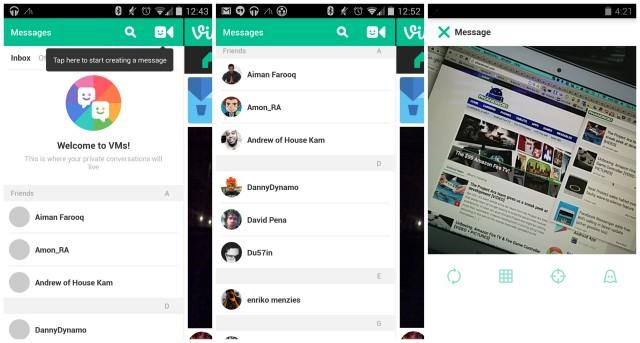 Vine VMs update direct messaging