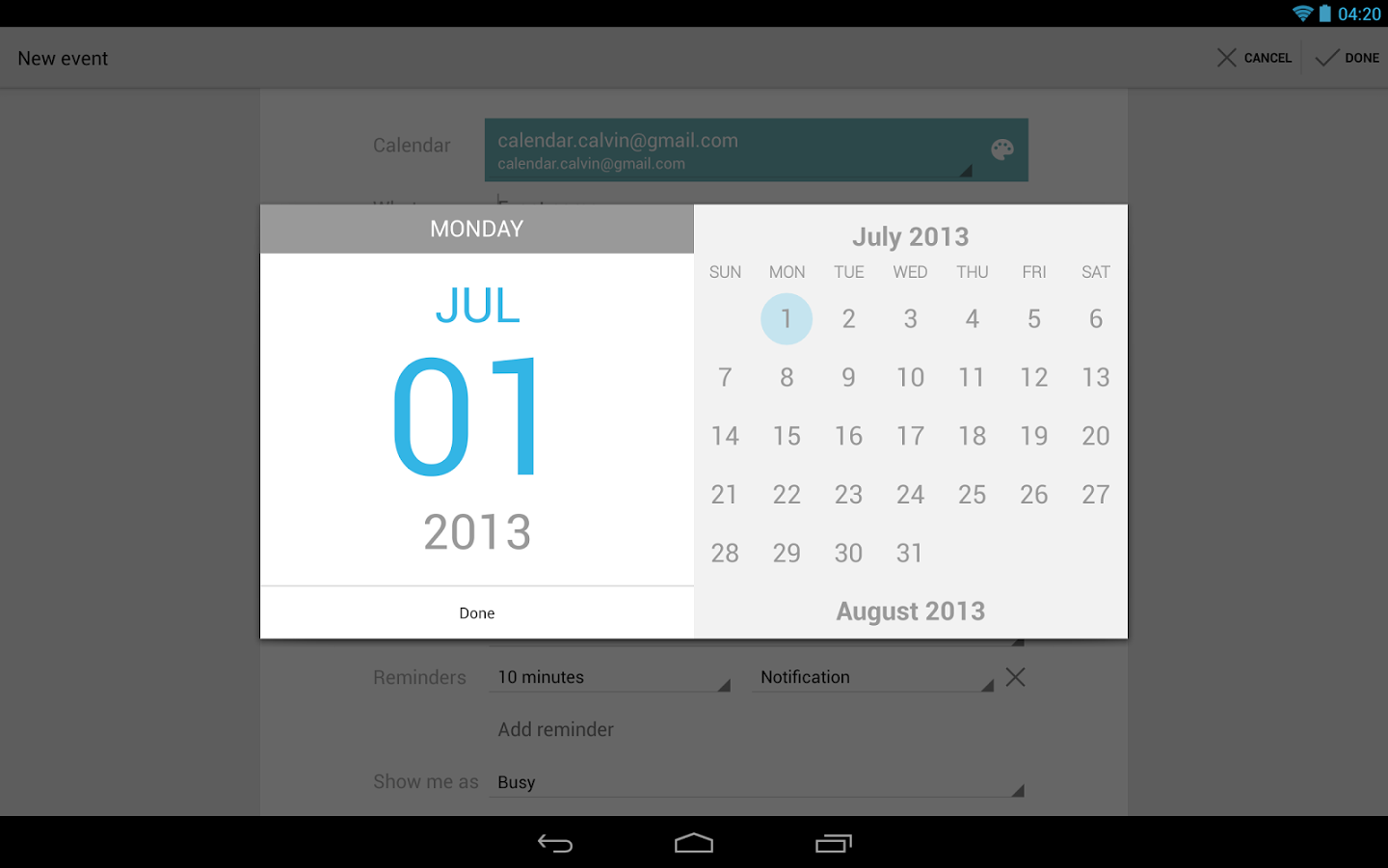 Calendar App : Google calendar update introduces autocomplete for locations