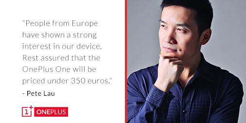 oneplus one europe pricing