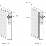 Facebook phone touchpad patent interaction