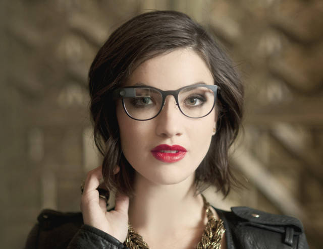 Google Glass titanium frames hot chick