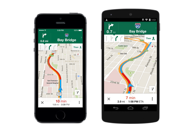 Google Maps 8.0 Navigation with Lane Guidance