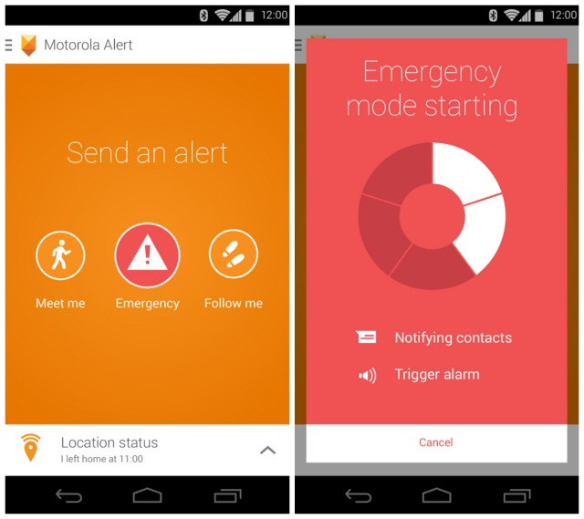 Motorola Alert screenshots