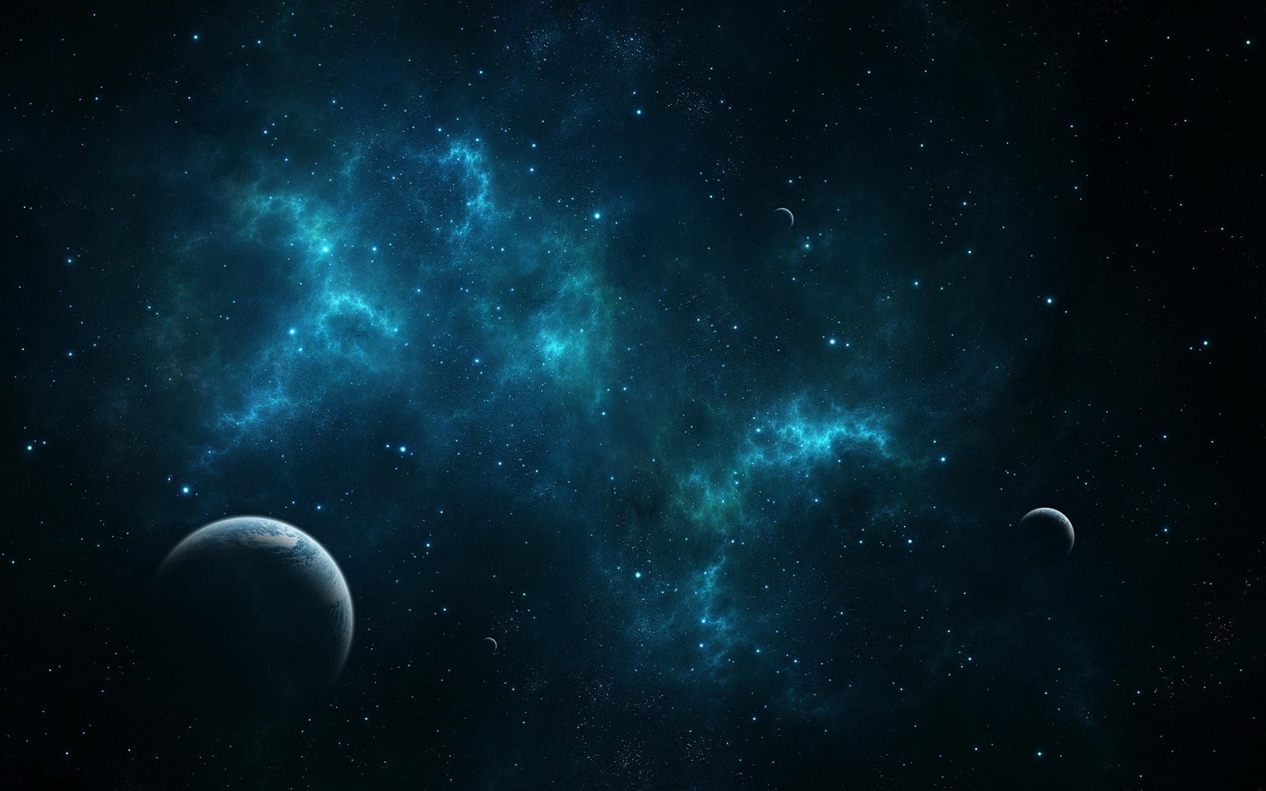 Android wallpaper - Blue Space