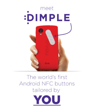 dimple nfc sticker