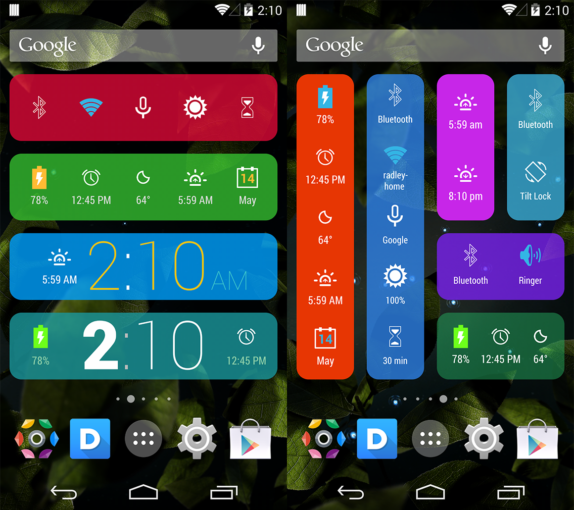 how to delete widgets on android