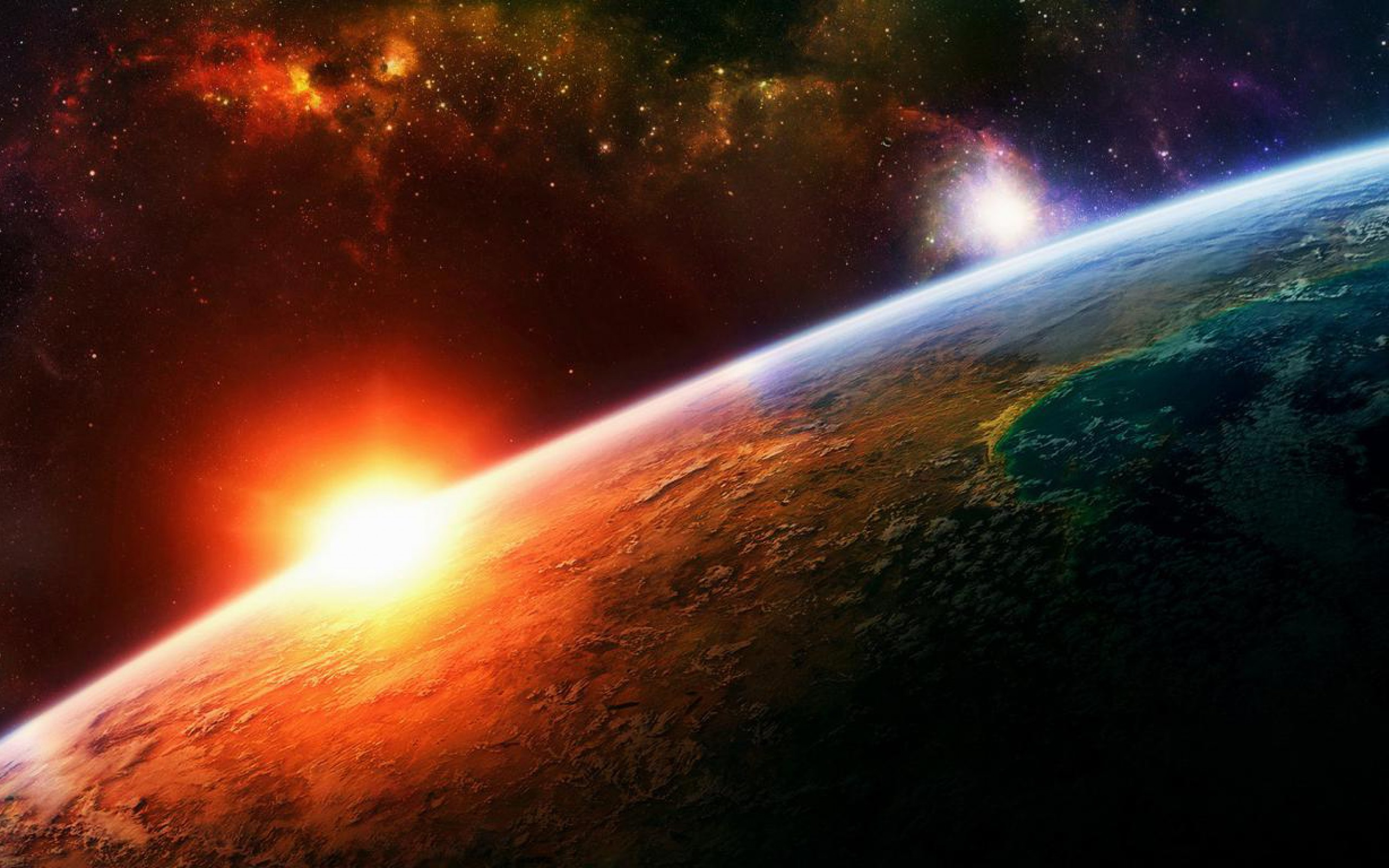 cool planet earth and sun - photo #19