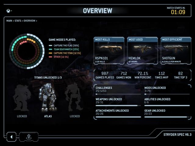 titanfall app screenshot