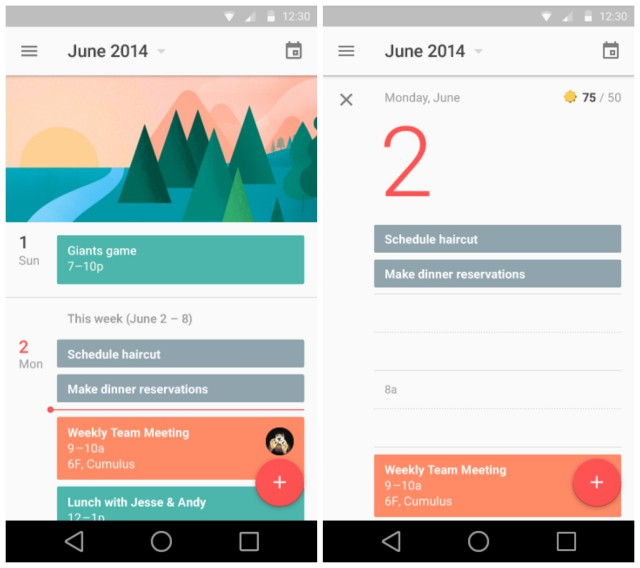 Android L Material Calendar