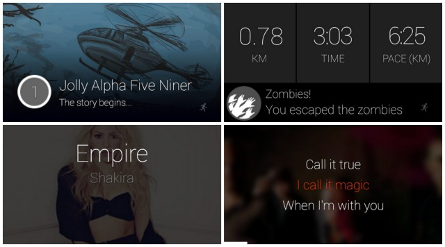 Google Glass Glassware Shazam Zombies Run MusiXmatch