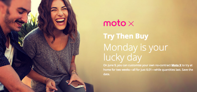 Motorola Moto X try before you buy deal