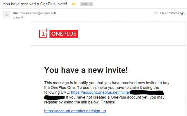 OnePlus Invite 640x398 first wave of oneplus one invites rolling out now,Invite Oneplus