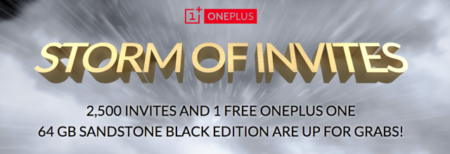 OnePlus One storm of invites promotion