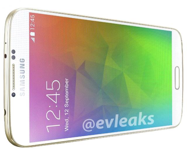 Samsung Galaxy F Glowing Gold evleaks