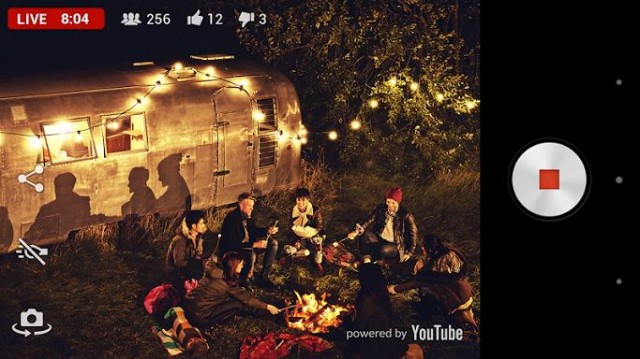 Sony Xperia Z2 Live on YouTube app