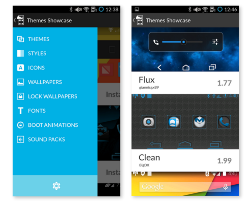 cm theme showcase app