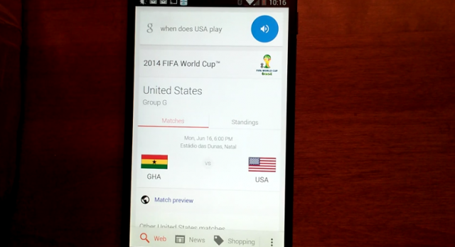 google now fifa 2014 world cup