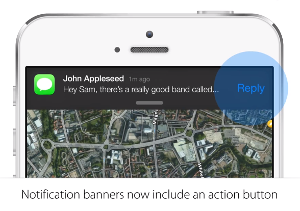 iOS 8 interactive notifications