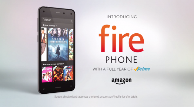 Amazon Fire Phone commercial banner