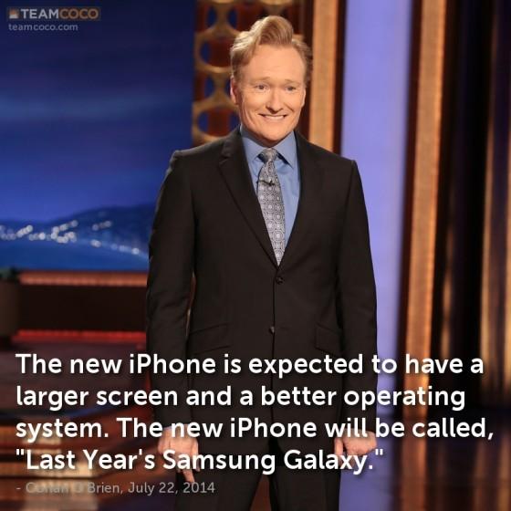 Conan Obrien iPhone Galaxy joke